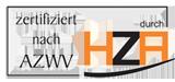 Logo HZA - Zertifiziert nach AZWV durch HZA
