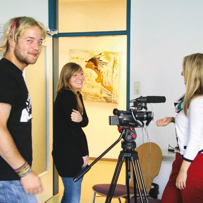Szene aus dem Medienprojekt Integrationn